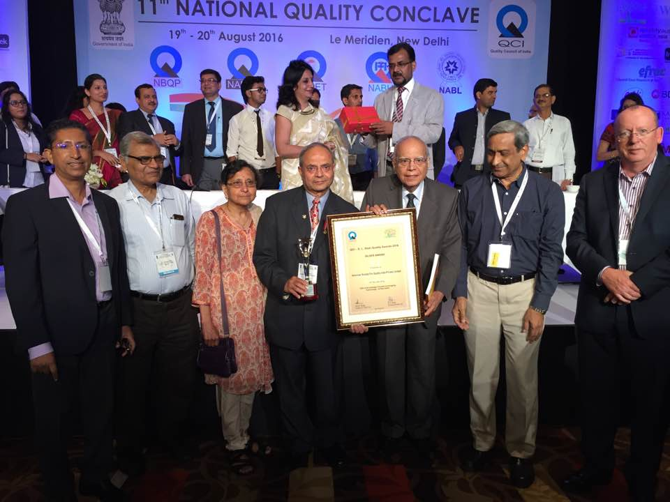 Vora Shah Silver Quality Award to ASQ India Team